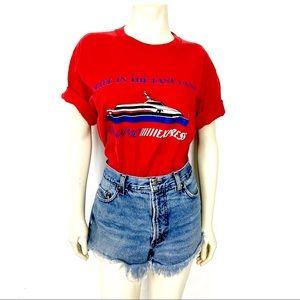 Vintage single stitch t-shirt red Nanaimo Express